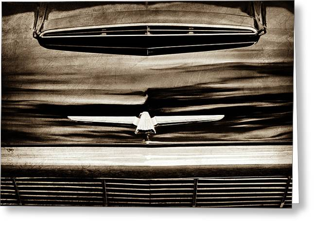 1964 Ford Thunderbird Emblem -0525s Greeting Card by Jill Reger