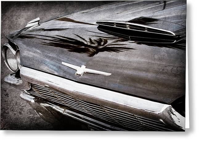 1964 Ford Thunderbird Grille Emblem -0519ac Greeting Card by Jill Reger