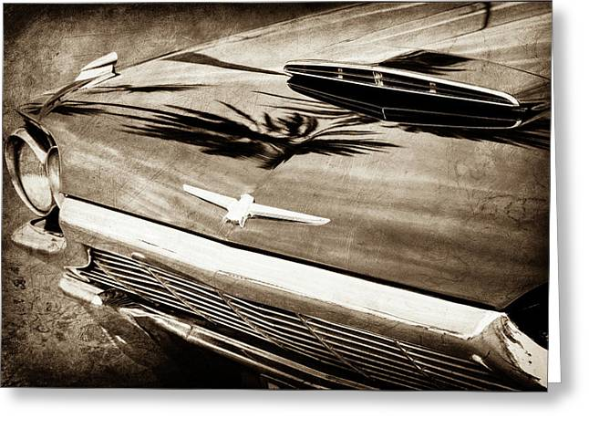 1964 Ford Thunderbird Grille Emblem -0519s Greeting Card by Jill Reger