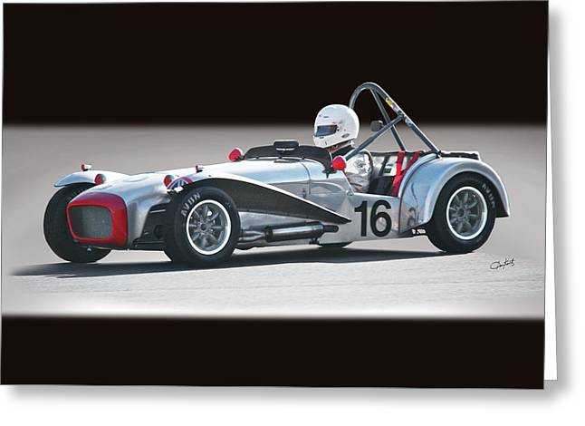 1964 Lotus Super 7 Vintage Racecar Greeting Card by Dave Koontz