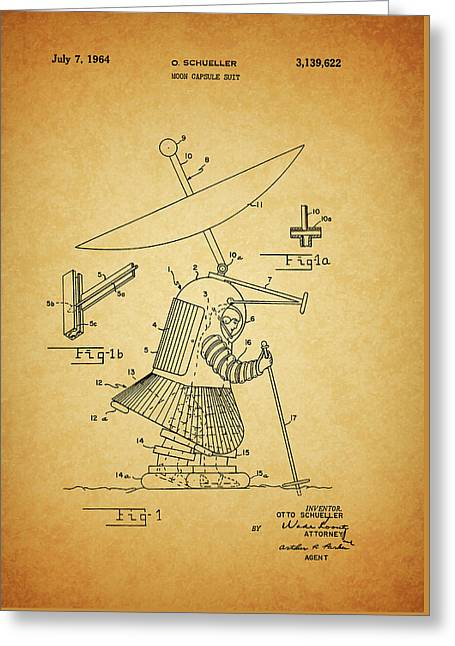 1964 Moon Spacesuit Patent Greeting Card