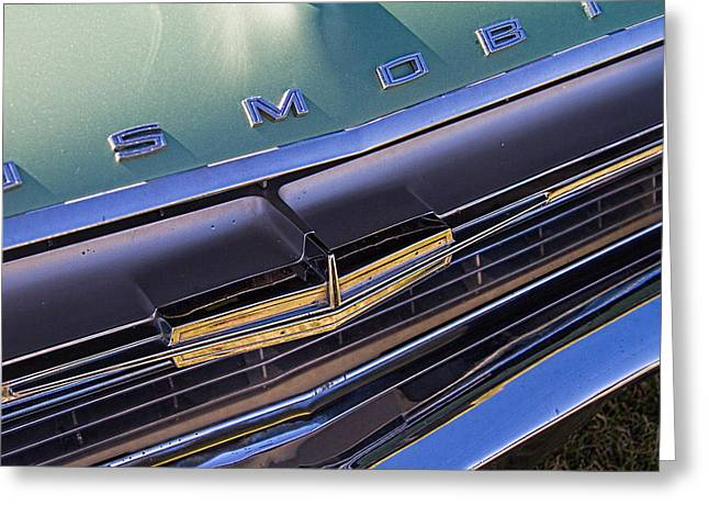 1964 Oldsmobile Jetstar Hood Ornament Greeting Card by Nick Gray