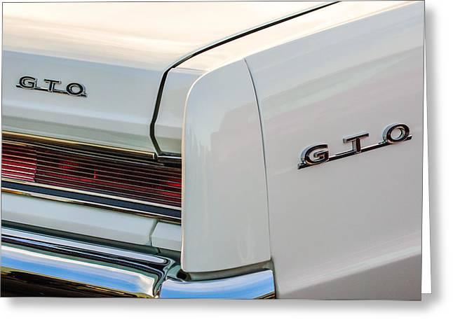 1964 Pontiac Gto Tail Light Emblems -0174c Greeting Card by Jill Reger