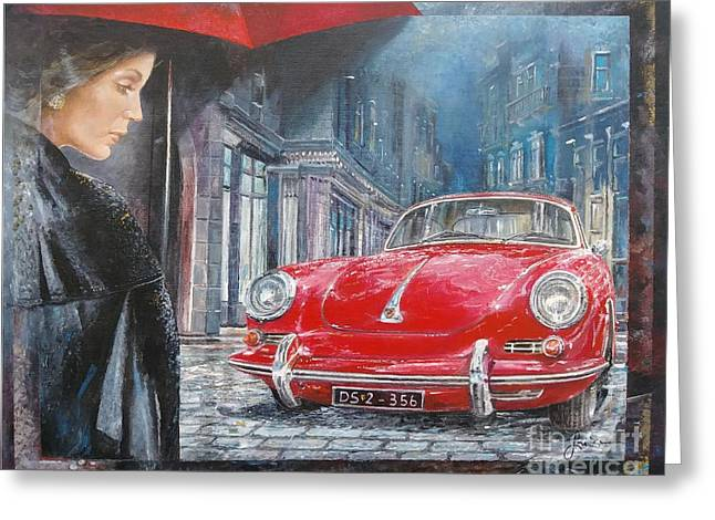1964 Porsche 356 Coupe Greeting Card