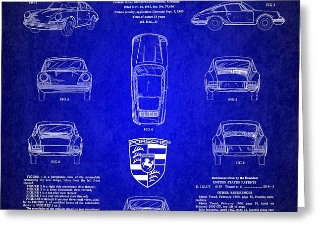 1964 Porsche Car Patent 4 Greeting Card by Nishanth Gopinathan