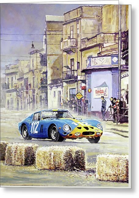 1964 Targa Florio Ferrari 250 Gto Greeting Card by Yuriy Shevchuk