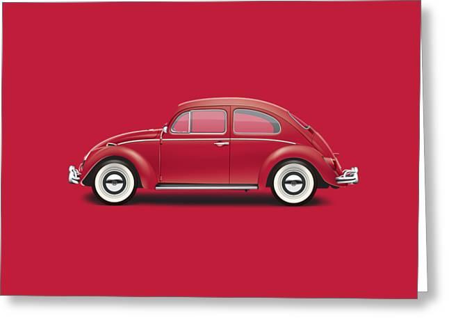 1964 Volkswagen 1200 Deluxe Sedan - Ruby Red Greeting Card by Ed Jackson