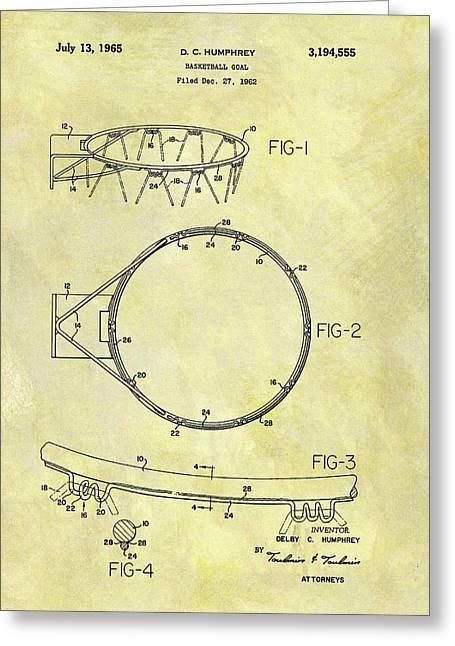 1965 Basketball Hoop Patent Greeting Card