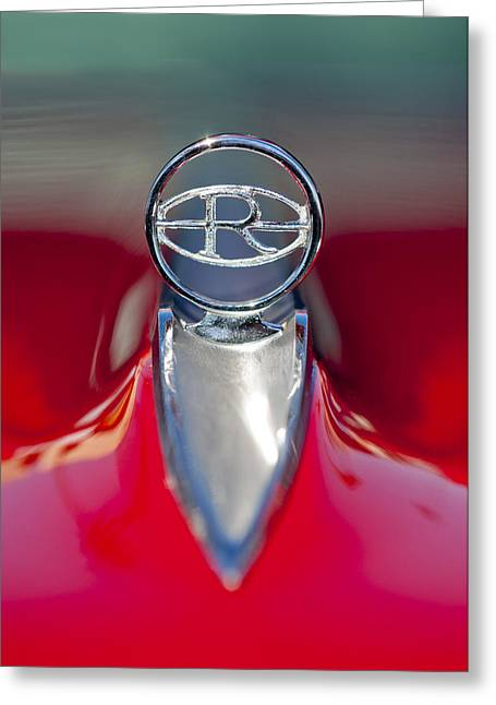 1965 Buick Riviera Hood Ornament Greeting Card by Jill Reger
