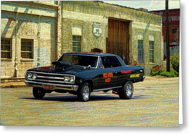 1965 Chevelle Gasser Greeting Card