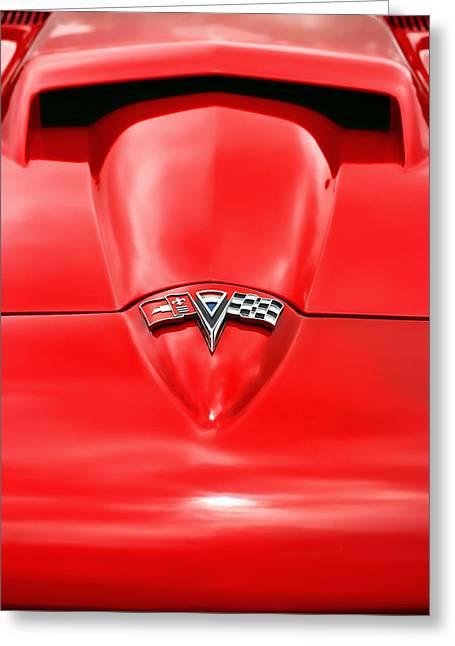 1965 Chevy Corvette Hood Scoop Greeting Card
