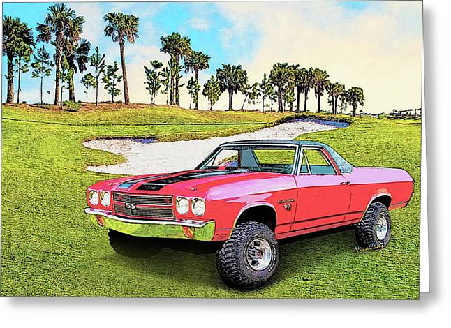 1970 Chevy El Camino 4x4 Not 2nd Generation 1964-1967 Greeting Card by Chas Sinklier