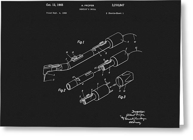 1965 Dentist Drill Patent Greeting Card by Dan Sproul