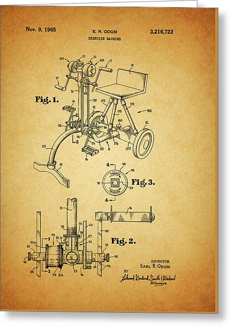1965 Exercise Machine Patent Greeting Card