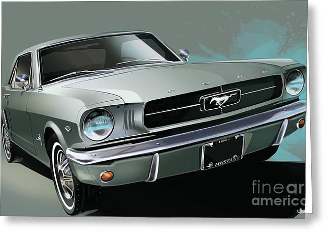 1965 Ford Mustang Coupe Greeting Card by Uli Gonzalez