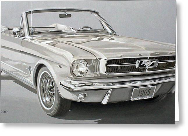 Daniel Storm Greeting Cards - 1965 Ford Mustang Greeting Card by Daniel Storm