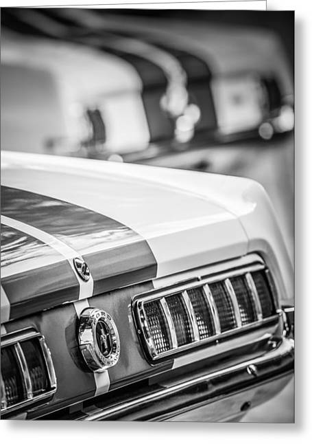 1965 Ford Shelby Mustang Gt 350 Taillight -1037bw Greeting Card by Jill Reger
