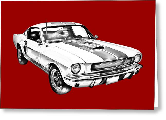 1965 Gt350 Mustang Muscle Car Illustration Greeting Card by Keith Webber Jr