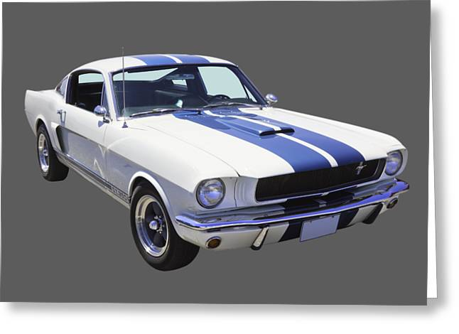 1965 Gt350 Mustang Muscle Car Greeting Card by Keith Webber Jr