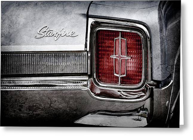 1965 Oldsmobile Starfire Taillight Emblem -0212ac Greeting Card by Jill Reger