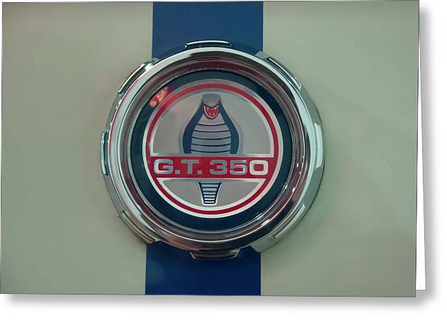 Greeting Card featuring the photograph 1965 Shelby Gt 350 Filler Cap by Chris Flees