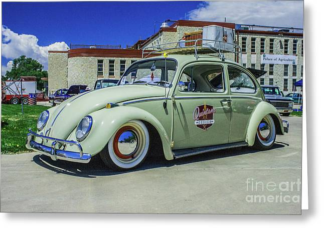1965 Volkswagen Bug Greeting Card