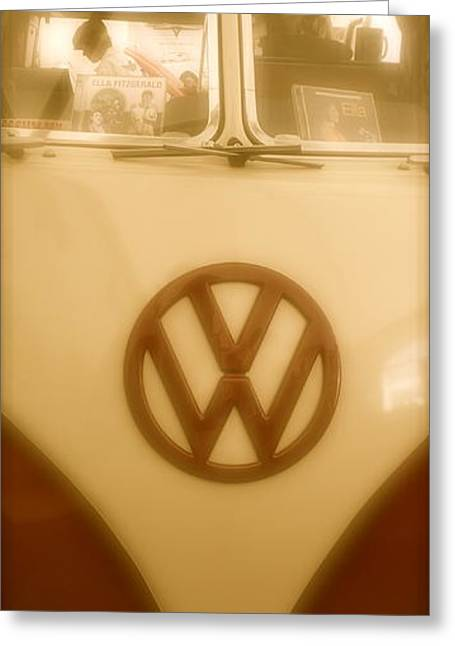 1965 Vw Camper Van Type II Split Screen Greeting Card by John Colley