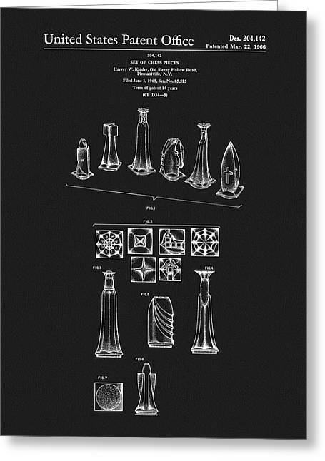 1966 Chess Pieces Patent Greeting Card