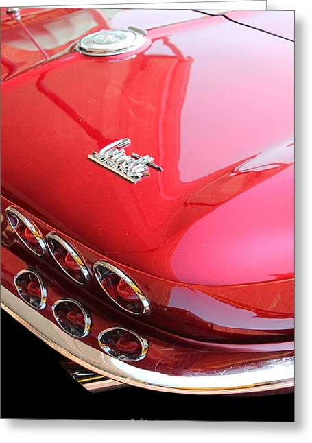 1966 Corvette Stingray Greeting Card by Betty Northcutt