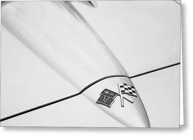 1966 Corvette Stingray Hood 2 Greeting Card