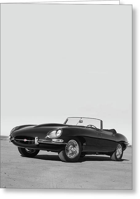 1966 E-type Series 1  Greeting Card by Mark Rogan