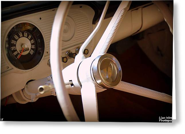 1966 Ford F100 Interior Greeting Card