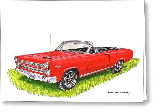 Greeting Card featuring the painting 1966 Mercury Cyclone Convertible G T by Jack Pumphrey