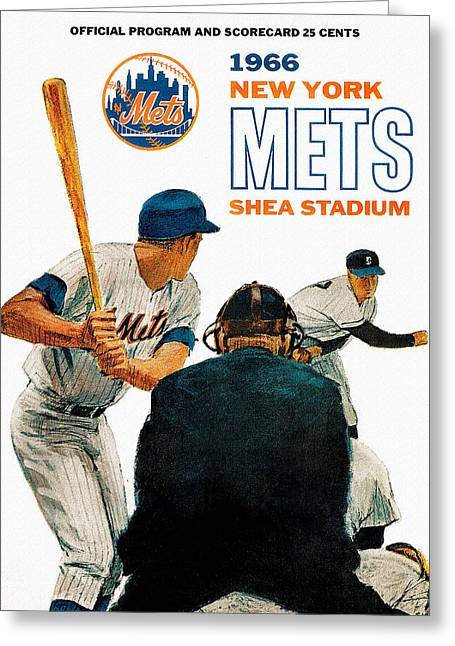 1966 New York Mets Scorecard Greeting Card