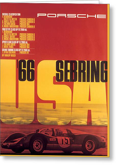 1966 Porsche 12 Hours Of Sebring Greeting Card