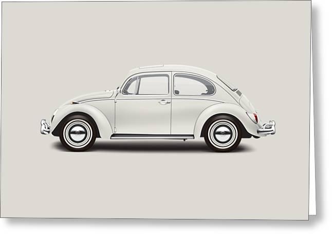 1966 Volkswagen 1300 Sedan - Pearl White Greeting Card by Ed Jackson