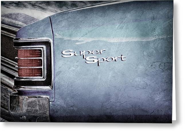 1967 Chevrolet Chevelle Ss Super Sport Taillight Emblem -0288ac Greeting Card by Jill Reger