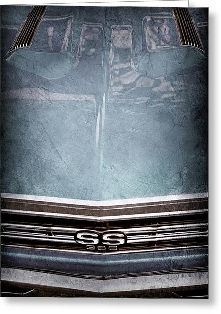 1967 Chevrolet Chevelle Super Sport Emblem -0028ac Greeting Card