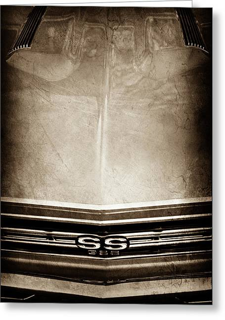 1967 Chevrolet Chevelle Super Sport Emblem -0028s Greeting Card