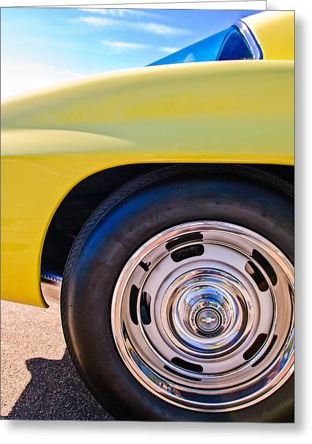 1967 Chevrolet Corvette Sport Coupe Rear Wheel Greeting Card by Jill Reger