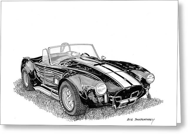 Greeting Card featuring the painting 1967 Cobra Sc by Jack Pumphrey