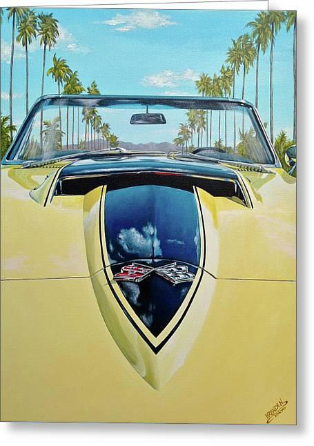 1967 Corvette 427 Convertible Greeting Card by Branden Hochstetler