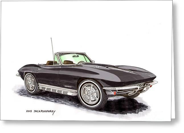 1967 Corvette Stingray Convert. Greeting Card by Jack Pumphrey