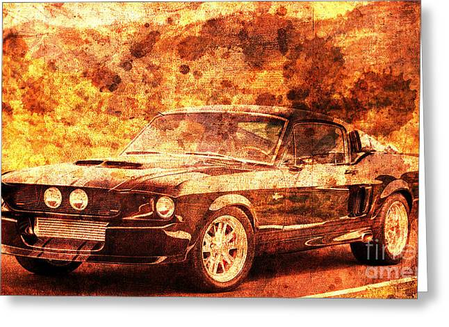 1967 Ford Mustang Shelby Gt500, Gift For Men, Office Decoration Greeting Card