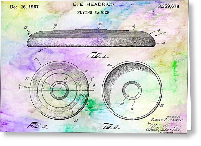 1967 Frisbee Patent Colorful Greeting Card