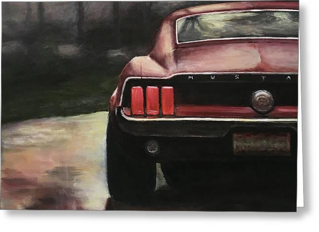 1967 Mustang Greeting Card by Branden Hochstetler