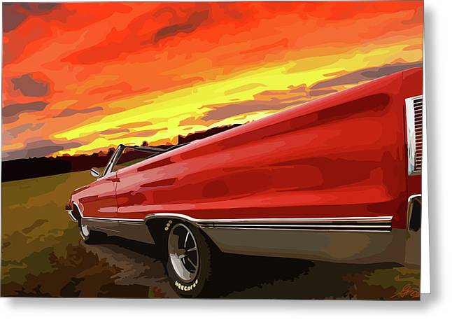 1967 Plymouth Satellite Convertible Greeting Card