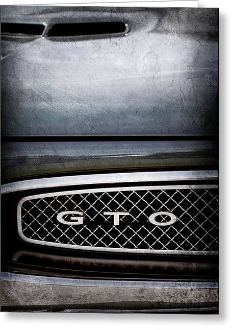 1967 Pontiac Gto Grille Emblem -0334ac Greeting Card by Jill Reger