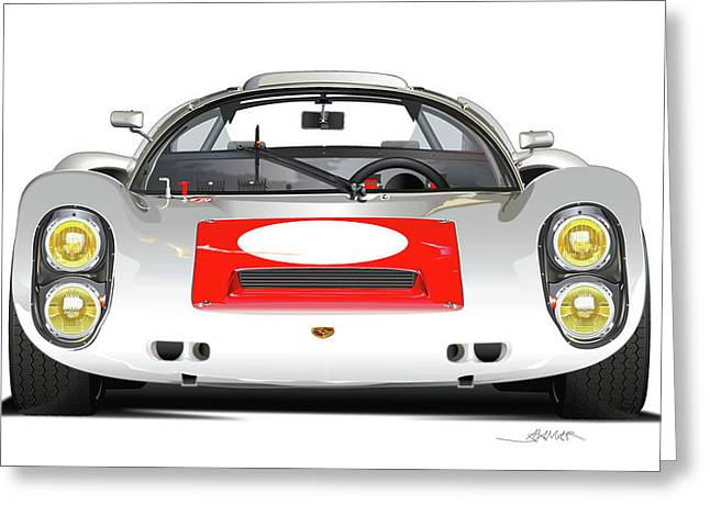 1967 Porsche 910 Illustration Greeting Card