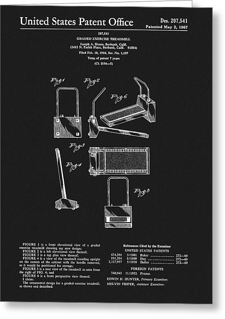 1967 Treadmill Patent Greeting Card